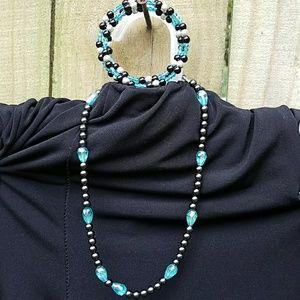 New Glass headed necklace & bracelet